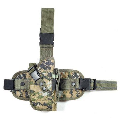 Ultimate Arms Gear Tactical Woodland Digital Marpat Drop Leg Colt 1911 XSE,.45 Auto Pistol/Gun Holster + Magazine Pouch