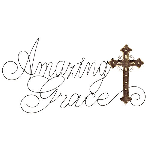Amazing Grace Metal Cross Brown