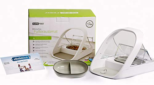Automatic Pet Feeder - SureFeed Microchip Pet Feeder - MPF001 - Suitable for Both Wet and Dry Food - with Free eOutletDeals Value Bundle