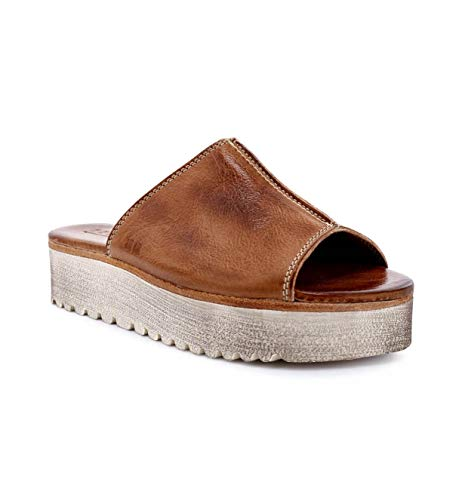 Bed|Stu Women's Fairlee II Slip-on Sandal (8.5, Tan Rustic)