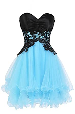 Ellames Sweetheart Bridesmaid Short Prom Homecoming Party Dresses ...
