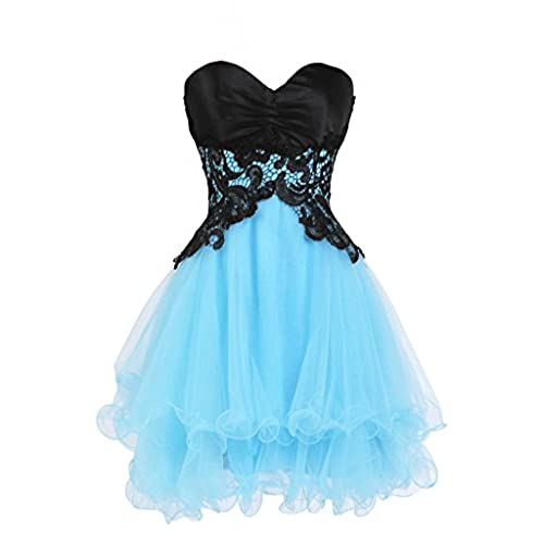 Ellames Sweetheart Bridesmaid Short Prom Homecoming Party Dresses For Juniors Blue US 6