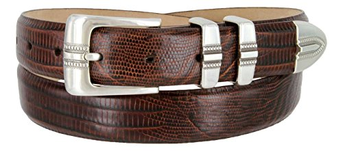Italian Designer Brown Leather - Kaymen Italian Calfskin Leather Designer Dress Golf Belts for Men 1-1/8