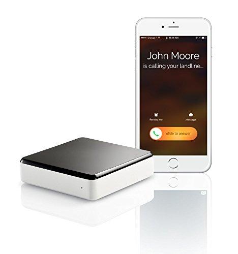 invoxia 20407951 Swissvoice Voice Bridge Smart-Telefon mit Festnetz-Anrufe schwarz/weiß