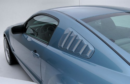 3dCarbon 2005-2009 Mustang Quarter Window Louvers (painted: Red Candy Tricoat - U6)