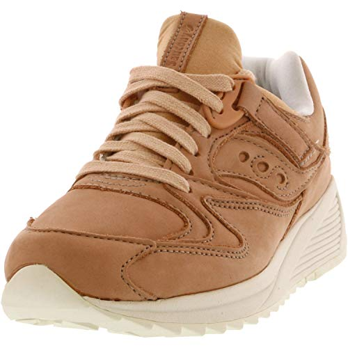 Saucony Men's Grid 8500 Ht Peach/White Ankle-High Leather Sneaker - 10.5M