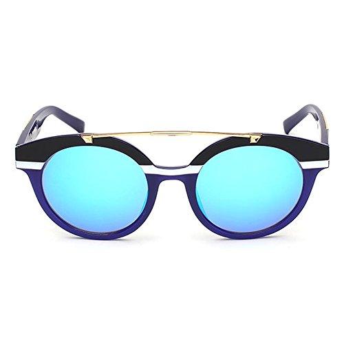 Peggy para Sol Frame Plata Unisex al Gafas Full UV Libre Aire Color de de Mujeres Viaje Gu Protección Conducción de Azul Hombres Lens Colored r7SnqrAWB