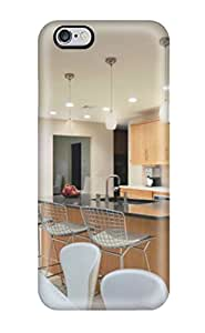 James Escobar Scratch-free Phone Case For Iphone 6 Plus- Retail Packaging - Bright Kitchen With Spiral Chandelier White Pendant Lights And Tile Backsplash