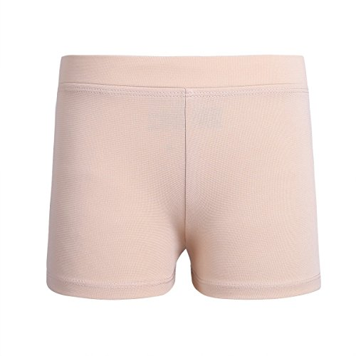 (Freebily Girls Boy-Cut Shorts Low Rise Solid Booty Bottoms Dance Underwear Nude 12)