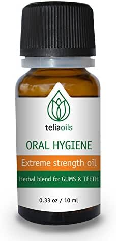 Teliaoils Herbal Blend for Teeth & Gums - Extreme Strength Oral Hygiene Oil- 100% Natural Deep Cleansing Mouthwash/Liquid Toothpaste/Herbal Breath Freshener- Fluoride Free Oral Pain Relief - 10ml