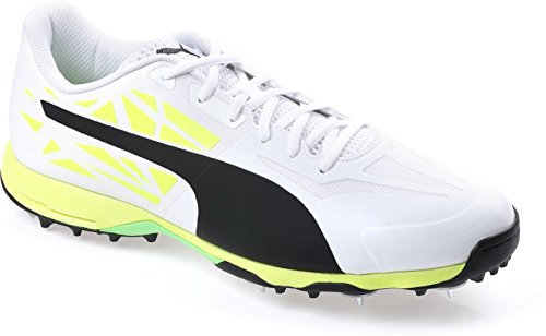 874b896c8a6 Evospeed 1.5 Cricket Spike P Whit- p-bk-Safety Yellow Shoes- 8 UK  Buy  Online at Low Prices in India - Amazon.in