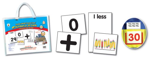 Double Smart Pocket Chart Numbers 0-30 Cards ()