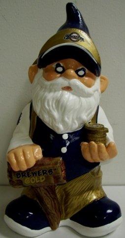 MLB Milwaukee Brewers Team Gnome Bank