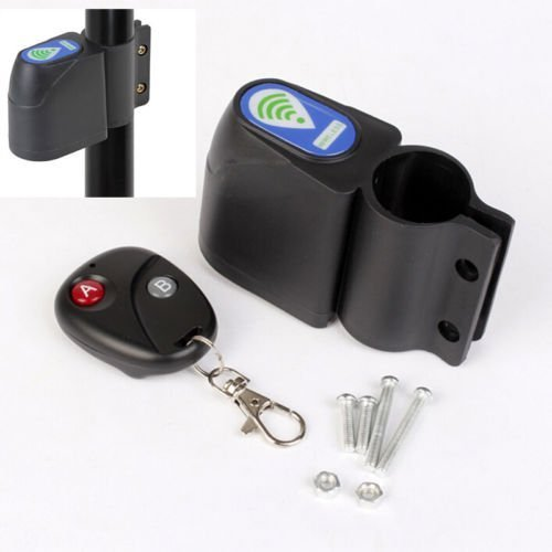 TOP! Lock Bicycle Security Wireless Remote Control Vibration Alarm Anti-theft UK