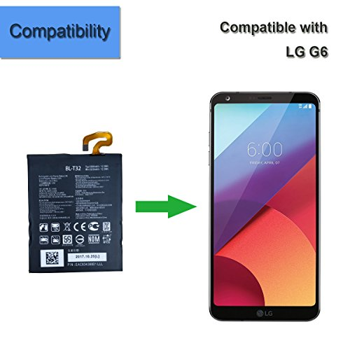 New Replacement Battery BL-T32 Compatible with LG G6 H870
