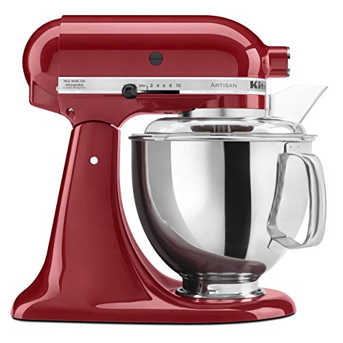 KitchenAid KSM150PSER Artisan Tilt-Head Stand Mixer with Pouring Shield, 5-Quart, Empire Red (Best Stand Mixer For The Money)