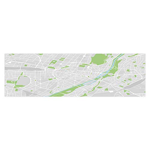 Dragonhome Background Decoration Vector map of The City Center of Munich Germany Home Decoration L35.4 x H15.7 -