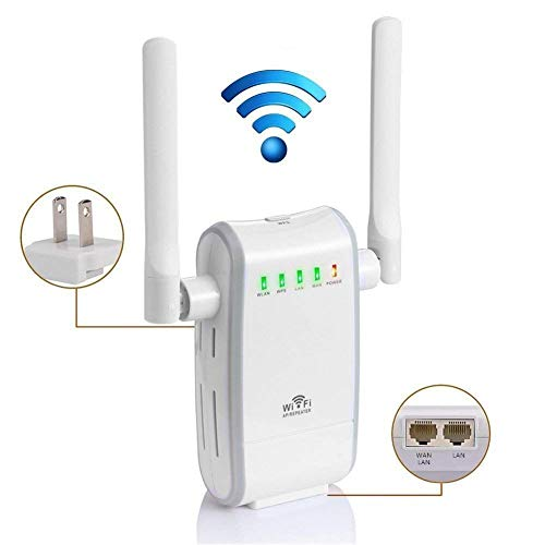 (WiFi Repeater, 300Mbps Dual External Antenna Fast Speed WiFi Extender 2.4GHz Supports Router/Repeater/AP Mode WiFi Signal Booster Network WiFi Signal Range)