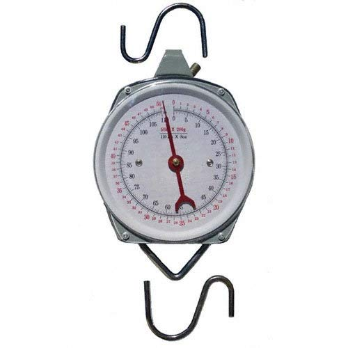 1 X 110 lb. Hanging Spring Kitchen Dial Scale by Pit Bull ()