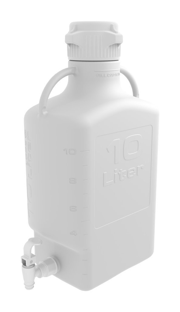 Foxx Life Sciences - 10L (2.5 Gal) HDPE Carboy with 83mm Cap and Spigot