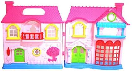 Casas de Muñecas Chalet en Minitura con 2 Muchachas Bonitas Caseta de Perro Plástico