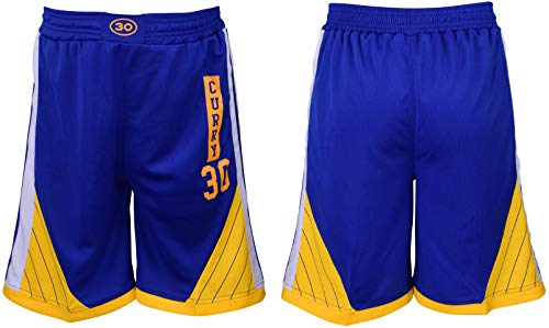 Icer Brands Steph Curry Basketball Shorts Blue Kids Youth Sizes Premium Quality (YL 10-13 Years, Shorts)