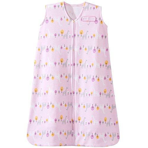 Halo SleepSack Cotton Wearable Blanket, Pink with Giraffes, (Hot Pink Giraffe)