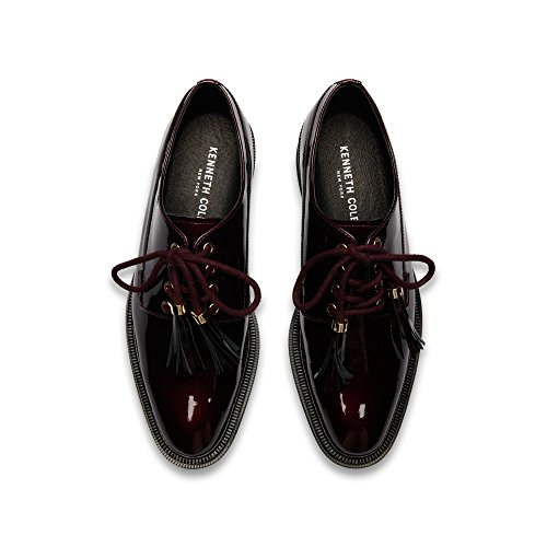 Kenneth Cole New York Women's Annie Menswear Style Leather Oxford, Wine, 8 M US by Kenneth Cole New York (Image #1)