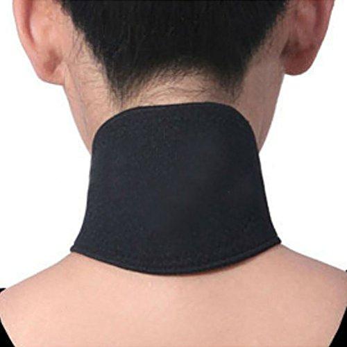 NUOLUX Nackenwärmer Halswärmer Nackenbandage Magnetfeldtherapie Turmalin Thermal selbst Heizung Pad Neck Support (schwarz)