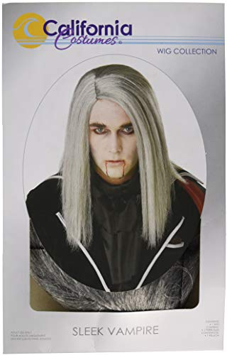 California Costumes Men's Sleek Vampire Adult Wig, Gray, One Size]()