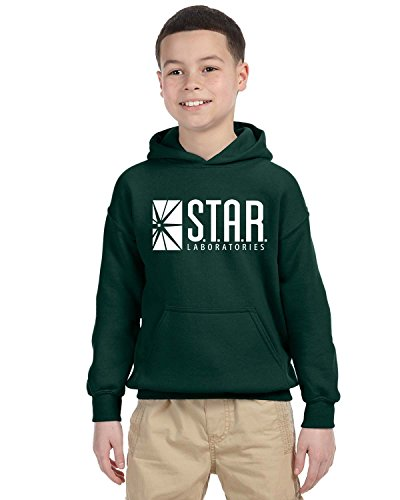 (Star Lab Unisex Youth Pullover Hoodie Sweat Shirt Large Forest Green)
