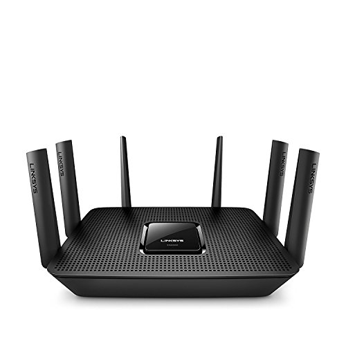 Linksys Max-Stream AC4000 MU-MIMO Wi-Fi Tri-Band Router, Works with Amazon Alexa (EA9300) (Certified Refurbished)