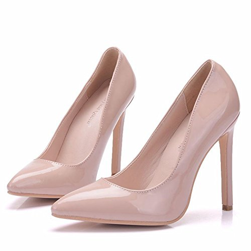 Nude Pumps Thin High Heels Shoes Pointed Toe Shoes Thin Heels Party Shoes Sexy Nude Heels Nude Color 2Op892oDVL