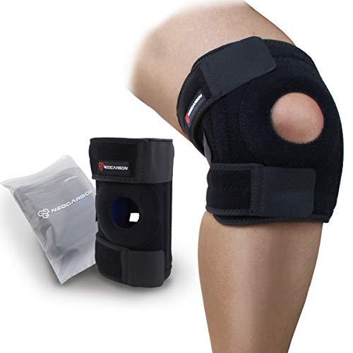 NeoCarbon Rodillera Ortopédica Ajustable de Neopreno con Protección Interna y Estabilizador de Rodilla y Rótula