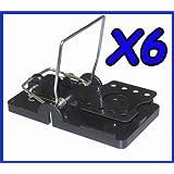 6 x Rat Trap Catching Heavy Duty Snap Mouse E Trap-Easy Set/Bait/Pest Catcher