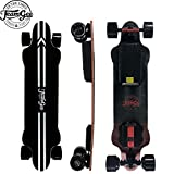 Teamgee H20 39' Electric Skateboard,26 Mph / 42Kph Top Speed,540W Dual Motor, 25-30KM Range, Max Load 286 Lbs, 8 Ply Canadian Maple and 1 Ply Fiberglass