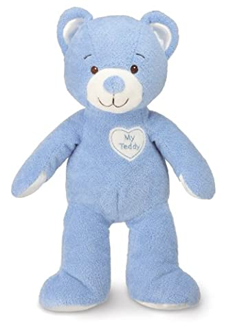 Healthy Baby, Asthma and Allergy Certified My Teddy - Blue - Blue Plush Bear
