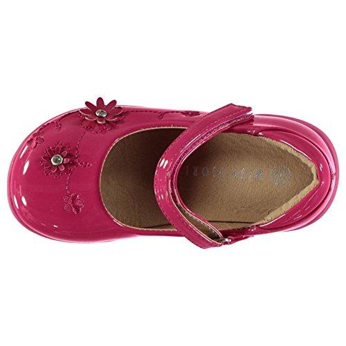 Miss Fiori Kinder Mädchen Cassie Mary Jane Schuhe Lackschuhe Klettverschluss Pink