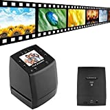 DigitNow! High resolution film scanner convert 35/135mmNegative&Slide to Digital JPEGs and saved to SD card, Using Built-In Software Interpolation with 1800DPI High Resolution-5/10M Photo&Film Scanner