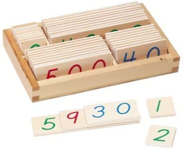 Montessori Checker Board Beads With Wooden Number Cards For Kids Learning Tools