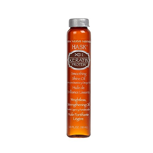 Hask Keratin Protein Smoothing Shine Oil Vial, 0.625 Ounce