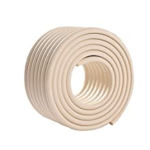 niceEshop(TM) Furniture Table Wall Edge & Corner Guards FREE Child Door Stopper Protectors,Beige