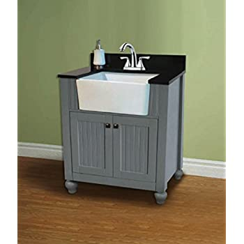 Legion furniture wlf6022 g 30 farmhouse apron style for Legion furniture 30 inch bathroom vanity
