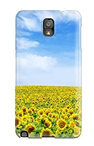 Case Cover Sunflower Landscape/ Fashionable Case For Galaxy Note 3