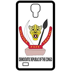 Democratic Republic Of The Congo - Country Coat Of Arms Flag Emblem Black Samsung Galaxy S4 i9500 Cell Phone Case - Cover