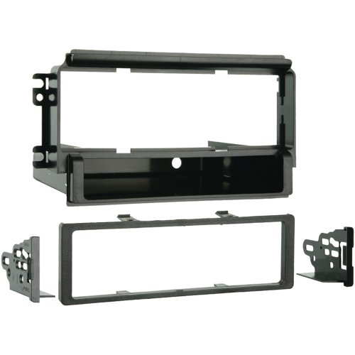 1 - 2003 - 2006 Kia Sorento EX Single DIN Installation Kit, Recessed DIN radio opening , ISO mount radio compatible using snap-in ISO radio mounts, 99-1006
