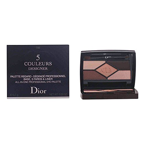 Makeup Dior Palette (Christian Dior 5 Couleurs Designer All-in-one Professional Eye Palette, 708/Amber, 0.2 Ounce)