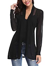 Womens Casual Long Sleeve Open Front Cardigan Sweater