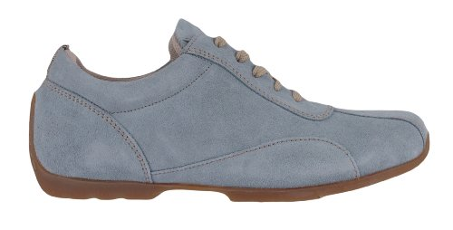 Footprints By Birkenstock Chesterfield Leather Shoes Suede Blue 3gNoG2z
