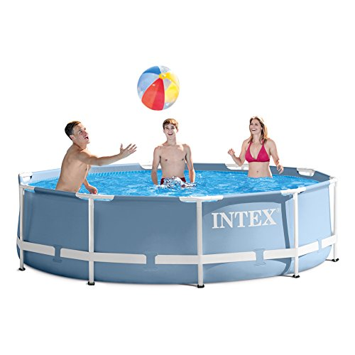 Intex 12 Feet x 30 Inches Prism Frame Above Ground Swimming Pool by INTEX